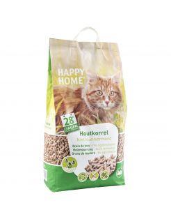 Happy Home Natural Houtkorrel - Kattenbakvulling - 20 l