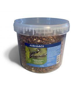Allbirds&Co Gepelde Pinda's In Emmer - Voer - 2.5 kg