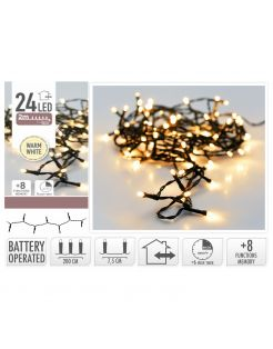 Homestyle Led Verlichting Met Timer - Verlichting - 2 m Warm Wit 24 led Op Batterij