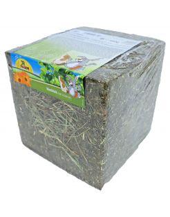 Jr Farm Hooiblok Met Bloemen - Ruwvoer - 20 x 20 x 20 cm 450 g
