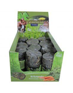 Jr Farm Grainless Brandnetel-Wortel Rol - Ruwvoer - 5 x 5 x 9 cm 80 g