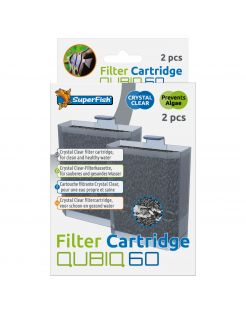 Superfish Qubiq 60 Cartridge - Filtermateriaal - 2 stuks