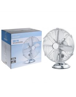 Homestyle Ventilator Tafel Model - Ventilator - Ø30 cm Chroom