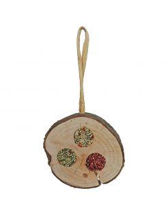 Jr Farm Pik-Schijf Trio - Vogelspeelgoed - 3.5 x 13 x 23 cm 70 g