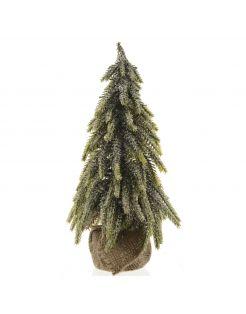 Everlands Mini Boom Binnen - Kerstboom - Ø20x35 cm Groen Tips 196