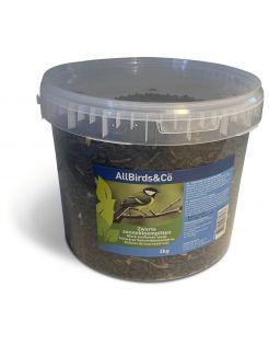 Allbirds&Co Zwarte Zonnebloempitten In Emmer - Voer - 2 kg