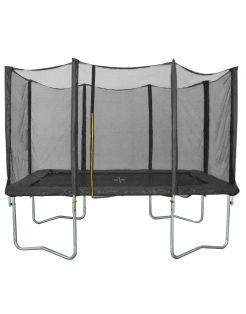 Bestgarden Trampoline Rechthoek Met Veiligheidsnet - Speeltoestellen - 305x213 cm Zwart