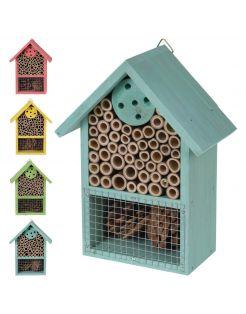Homestyle Insectenhotel Gekleurd Hout - Nestkast - 15x9x20 cm Assorti