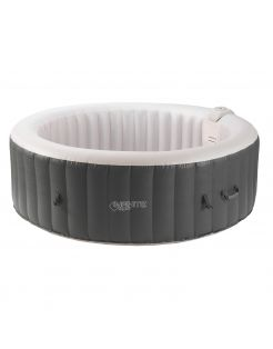 Infinite Opblaasbare Xtra Spa Rond 4pers - Easy Set Baden - H65xdia extern 180/ intern 140 cm 800 l Antraciet Pearl 120 Jets