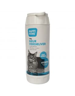 Happy Home Geurverdrijver Baby Poeder - Kattenbakreinigingsmiddelen - 750 ml