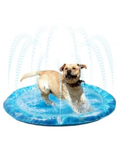 All For Paws Chill Out Bad Met Fontein - Hondenverkoeling - 126x8 cm 1130 g Blauw L