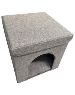 Adori Kattenhuis Met Poef  Moon - Kattenmand - 36.5x36.5x36.5 cm Grijs