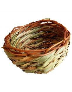 Adori Gras Nest - Vogelbroedbenodigheden - Ø11 cm Groen Bruin