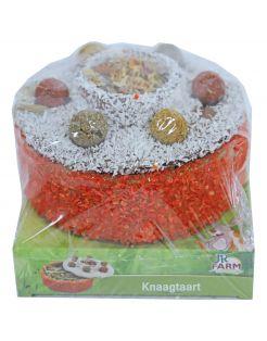 Jr Farm Knaagtaart - Knaagdiersnack - 13.5 x 13.5 x 11 cm 200 g