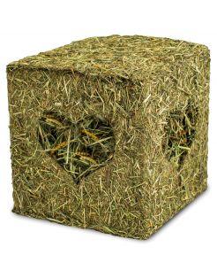 Jr Farm Hooiblok Met Meelwormen - Ruwvoer - 13 x 13 x 13 cm 125 g