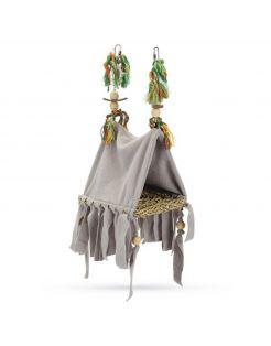 Beeztees Vogeltent Ami - Kooi Accessoire - 23x13x15 cm 125 g Grijs