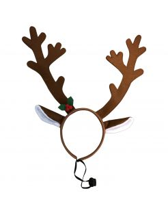 Adori Honden Haarband Kerst  Rendier - Hondenkleding - 40x14 cm Bruin Kerst