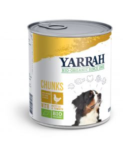 Yarrah Bio Blik Brokjes In Saus - Hondenvoer - Kip 820 g