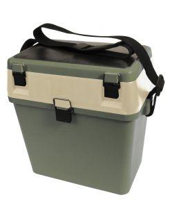 Albatros Polybox Seatbox Met Draagriem - Visgereedschap - 37x24x39 cm Groen Creme Allround