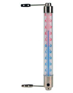 Nature Kozijnthermometer - Thermometer - 2.5x2.5x20 cm Metallic