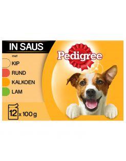 Pedigree Maaltijdzakjes Adult Selection Multipack - Hondenvoer - Gevogelte Vlees 12x100 g