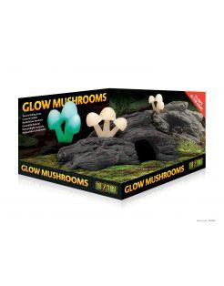 Exo Terra Schuilplaats Glow Mushrooms - Ornamenten - 23x14x10 cm Natuurlijk