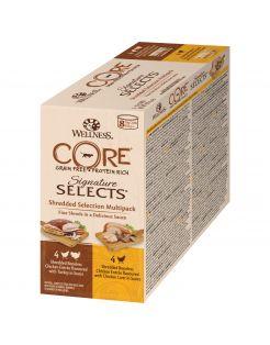 Wellness Core Signature Selects Shredded Multi-Pack - Kattenvoer - Mix 8x79 g