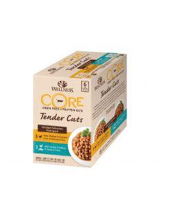 Wellness Core Tender Cuts Chicken Selection - Kattenvoer - Kip 6x85 g