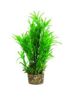 Zolux Kunstplanten Op Grind - Aquarium - Kunstplant - Groen per stuk Medium