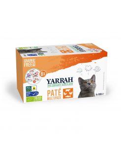 Yarrah Bio Kat Mult-Pack Alu Kuip - Kattenvoer - 8x100 g