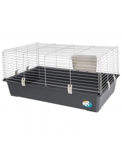 Ferplast Konijnenkooi Rabbit 100 Basic - Dierenverblijf - 95x57x46 cm Assorti