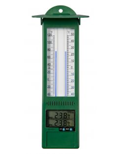 Nature Min-Max Thermometer - Thermometer - 3x9.5x24 cm Groen