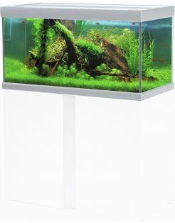 Akvastabil Fusion Aquarium 100 - Aquaria - 100x50x54 cm Zilver Wit Ca. 250 L