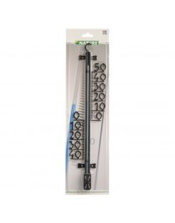 Nature Profielthermometer - Thermometer - 3x11x46.5 cm Zwart
