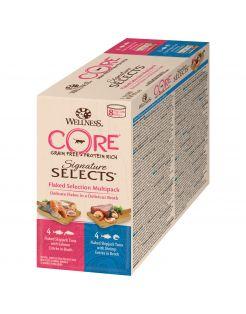 Wellness Core Signature Selects Flaked Multi-Pack - Kattenvoer - Mix 8x79 g