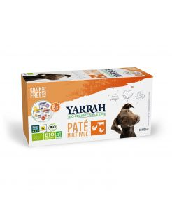 Yarrah Bio Hond Mult-Pack Alu Kuip - Hondenvoer - Kip 6x150 g