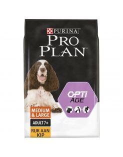 Pro Plan Dog Senior Medium & Large Breed - Hondenvoer - Kip 14 kg
