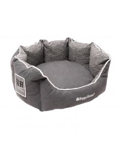 Happy-House Mand Rond Casual Living Collection - Hondenmand - 60x60x26 cm Grijs Medium