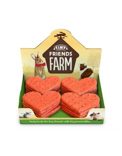Tiny Friends Farm Giant Hearts - Knaagdiersnack - 20 g per stuk