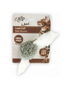 All For Paws Lamb Ball (With Sound Chip) - Kattenspeelgoed - 5x5x3 cm Assorti