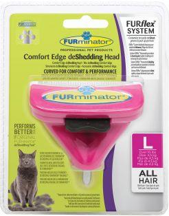 Furminator Furflex Cat Deshedding Tool - Kattenvachtkam - 12x4.5x15.5 cm Roze Alle Haartype Large