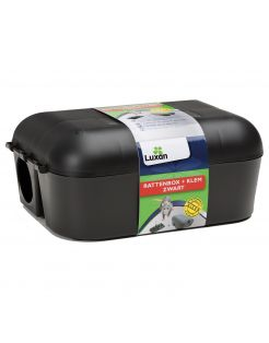 Luxan Rattenbox Met Klem - Ongediertebestrijding - Zwart