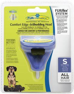 Furminator Furflex Dog Deshedding Tool - Hondenvachtkam - 12x4.5x15.5 cm Donkerblauw Alle Haartype Small