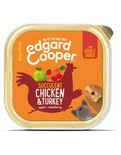 Edgard&Cooper Kuipje Chicken Turkey Adult - Hondenvoer - Kip Kalkoen Appel 150 g Graanvrij