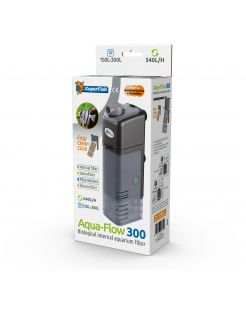 Superfish Aquaflow 300 Dual Action Filter - Binnenfilters - 7x12.5x29 cm Zwart 250-540 l/h