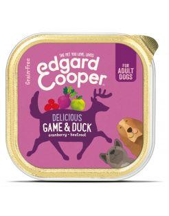 Edgard&Cooper Kuipje Game Duck Adult - Hondenvoer - Wild Eend Veenbes 150 g Graanvrij