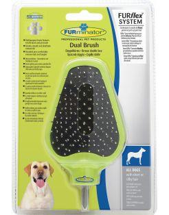 Furminator Furflex Dual Brush - Hondenvachtborstel - 12x5x18 cm Groen