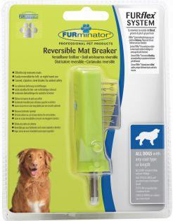 Furminator Furflex Reversible Mat Breaker - Hondenvachtborstel - 12x4.5x15 cm Groen