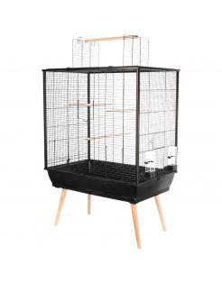 Zolux Vogelkooi Neo Jili - Vogelverblijven - 78x48x112 cm Zwart