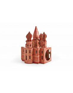 Poopy Cat Kremlin Speelhuis - Krabpaal - 65x65x24 cm Rood Bruin